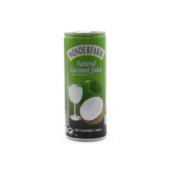 Wonderfarm Coconut Juice in can 240 ml