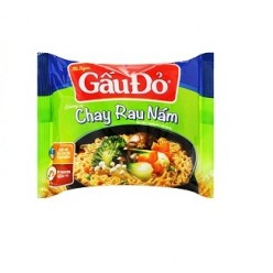 GAU DO instant noodles vegetables and mushroom flavor 65 gr